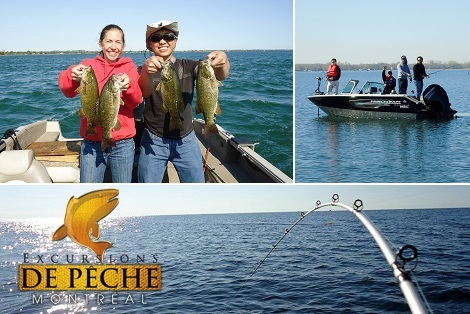 Side deal: 119$ for a 4 hour fishing expedition offered by Excursions de pêche Montréal ($248 value)