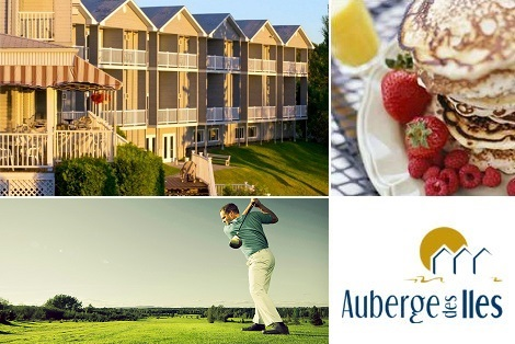 Side deal: $179 for 2 nights in double occupancy and 2 four course supper courtesy of Auberge des Îles! ($422 value)