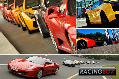 Starting at $119 for an experience of pure speed at the wheel of a Ferrari 430 or a Lamborghini Gallardo offered by Racing Box! Up to a $398 value)