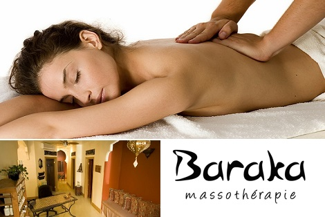 Side deal: 37$ for a 60 minute Swedish massage at Baraka Massothérapie (75$ value)